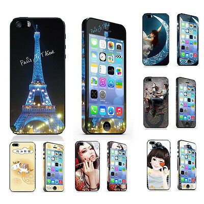 Full Body Phone Screen Protector Cover Color Film Skin for iPhone 5 5S SE