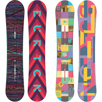 Burton Feather Women's Snowboard Freestyle Flat Rocker ICS CHANNEL 201-2018 NEW