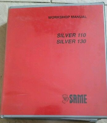 Same Silver 110 130 Tractor Service Manual
