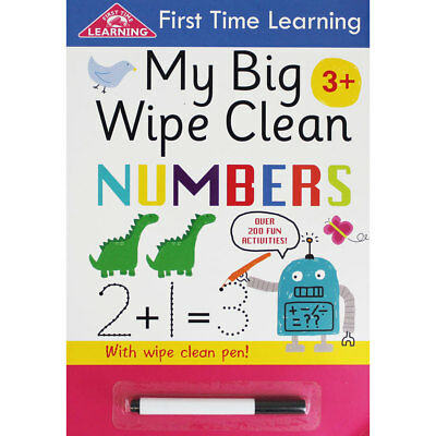 My Big Wipe Clean Numbers, Children's Books, Brand New
