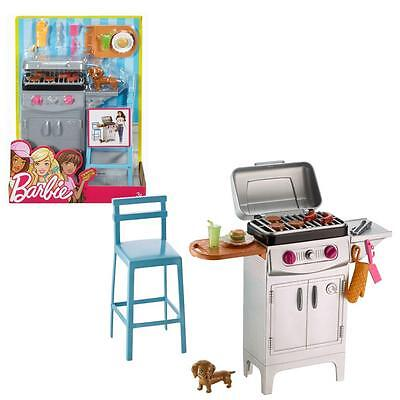 Barbie - Outdoor Furniture - Outdoor Grill Set & Accessories
