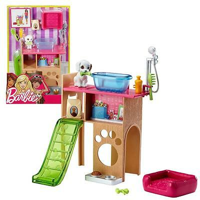 Barbie - Furniture Set - Pet Corner Washing Area, Play Area & Accessories