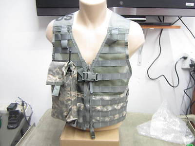 Military ACU Fighting Load Carrier FLC Vest MOLLE II NEW w/ Radio Pouch