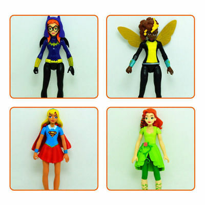 6pcs//set DC Comics Super Hero Girls Harley Quinn Batgirl Kid Action Figures Toy