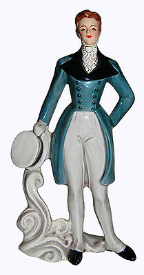 """Florence Ceramics RARE """"Peter"""" Turquoise Tuxedo and Hat"""