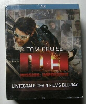 Coffret 4 Blu Ray Mission Impossible - L'integrale - Tom Cruise - Neuf Scelle