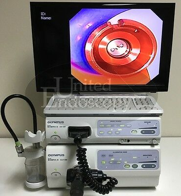OLYMPUS  CV-180 & CLV-180 Evis Exera II Video System Set, Endoscope, Endoscopy
