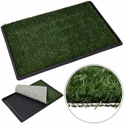Dog Puppy Cat Pet Potty Indoor Pee Training Fake Grass Pad Floor Mat Turf Patch