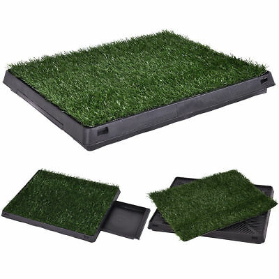 Dog Puppy Pet Potty Training Pee Indoor Toilet Underpad Grass Pad Mat Turf Tray
