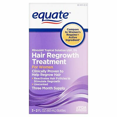Equate Minoxidil Hair Regrowth Treatment for Women, 2 oz, 3 ct