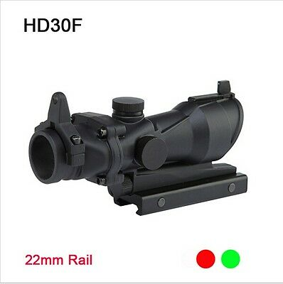 Hunting Red/Green Dot Sight 1X32 Illuminated Laser Fit 20mm Rail Mount For Rifle