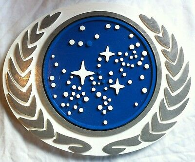 Starfleet Federation 3D routed wood bar prop sci fi plaque sign New