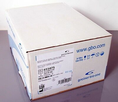 Greiner Bio-One 655075 Microplate PS 96 Well F-Bottom Case Of 40 Sealed