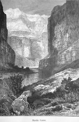 ARIZONA Rockies Marble Canyon - 1883 German Print