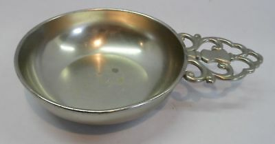 """Vintage KMD Royal Holland Pewter Candy Dish with handle 7 1/2"""" long 5"""" center"""