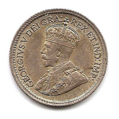 Canada Silver 5 Cents 1920 in UNC  King George V