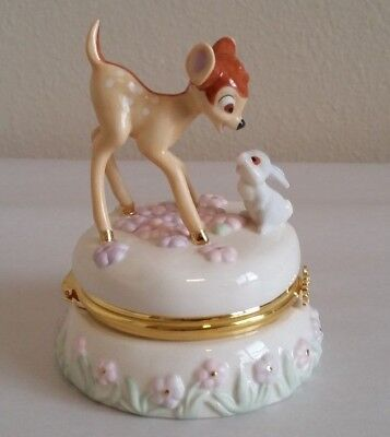 Disney Bambi and Thumper 37 Cent Stamp Lenox Trinket Box