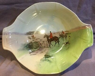 Royal Doulton Charles Simpson Fox Hunting  Dish Going To Covert