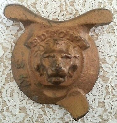 Antique Cast Iron High Relief Lion Head Ship Pump Cover Made by Edson Boston MA