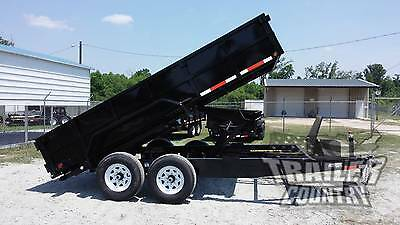 New 2017 7 X14 7 X 14 14,000 Lb 14K Hydraulic Low Pro Dump Utility Trailer Ramps