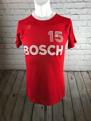 Vintage adidas football shirt Danish clubs 70's 80's  made in West Germany Bosch