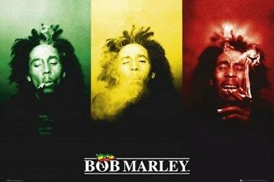 Bob Marley Maxi Poster 91,5 x 61 cm Ganja in Green, Red and Gold