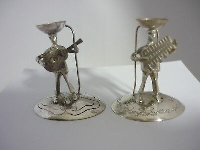 Two Vintage Ecuadorian Hallmarked Solid Silver Place Setting Card Holders
