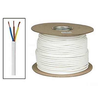 Time Round Flexible Cable 3183Y 3- Core 1mm² x 50m White