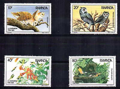 1985 RWANDA Centenary of JJ Audubon Birds set SG1237/40 unmounted mint