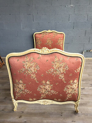 ANTIQUE FRENCH Louis XV Upholstered SINGLE BED Lit de repos II
