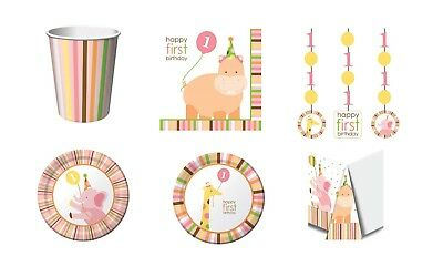 1st Birthday Girl Sweet At One Jungle Party Supplies Express First Class Postage