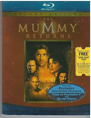 MUMMY 2 RETURNS (Blu-ray Disc, 2008) WITH SLEEVE
