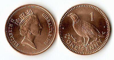 Gibraltar 1991 1 Penny Uncirculated (KM20)