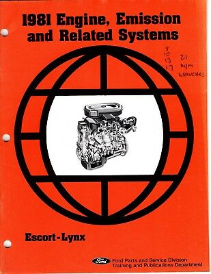 1981 Ford Engine, Emission And Related Systems For Escort-Lynx Manual M232