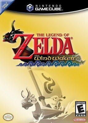 GameCube Legend of Zelda Wind Waker NO bonus disc requires Freeloader US CD with