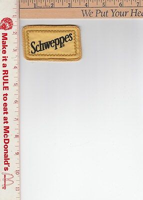 schweppes patch style 1 approx 3-3/8 x 2 in