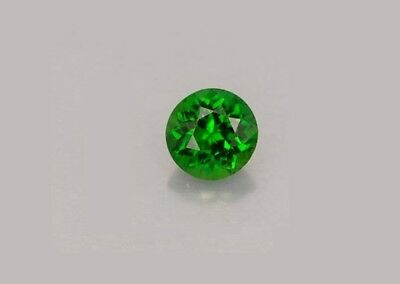 5 mm Round Fine Deep Rich Green Sparkling Faceted Chrome Diopside Loose Gem AAA