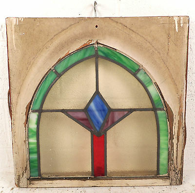 Vintage Art Deco Stained Glass Window Panel (3168)NJ