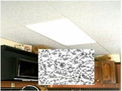 Store Display Fixtures 8 NEW LIGHTING PANELS CRACKLE WH
