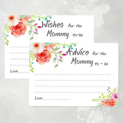 50 advice cards for the mommy to be baby shower game cards wish cards