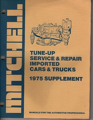 Mitchell Tune-Up Service and Repair  Imported Cars and Trucks 1975   M188