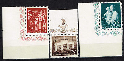 Croatia Germany Axis WW2 Nazi Youth Trumpeters set 1942 MLH/MNH #B13-15 labels
