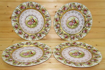 "Royal Vienna Courting Couple (4) Dinner Plates, 10 5/8"", Beehive"