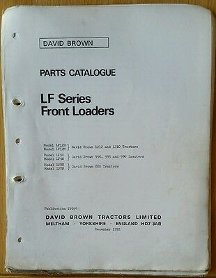 David Brown Lf Series Loader Parts Catalogue