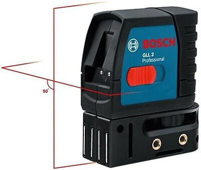 Bosch GLL 2-15 15m Self Leveling Cross Line Laser with Slope Function and Mount
