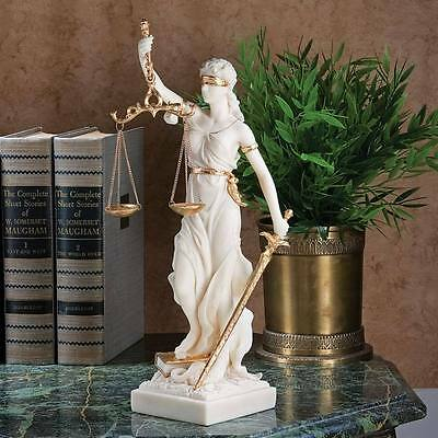 Historic Greek Goddess of Justice Statue Themes Law Sculpture Figurine NEW