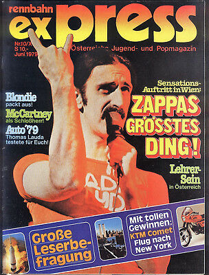 Rennbahn Express Nr.10 von 1979 Paul McCartney, Blondie, the Tubes, Frank Zappa
