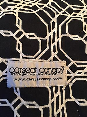 car seat cover stroller canopy black u0026 white w gray minky baby EUC & EUC CARSEAT CANOPY BABY CAR SEAT Black u0026 White / Royal Blue CANOPY ...