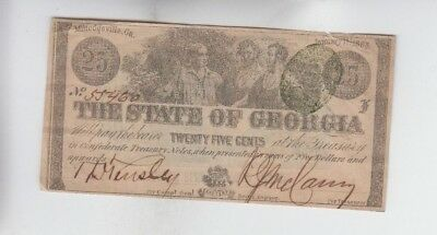 Obsolete Currency Georgia Great Advertisement note on back fine