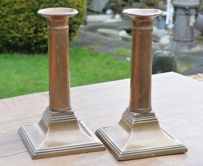 Vintage Pair Of Solid Brass Candlesticks